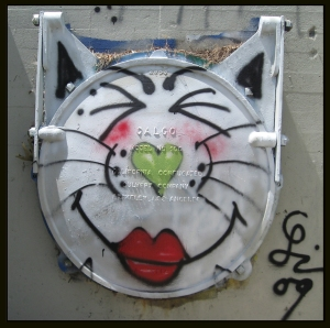 One of Leo's many gatitas painted along the LA River